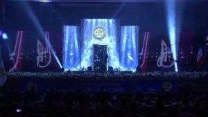 نصب ویدیو وال مراسم تجلیل از نمایندگان برتر بیمه کوثر